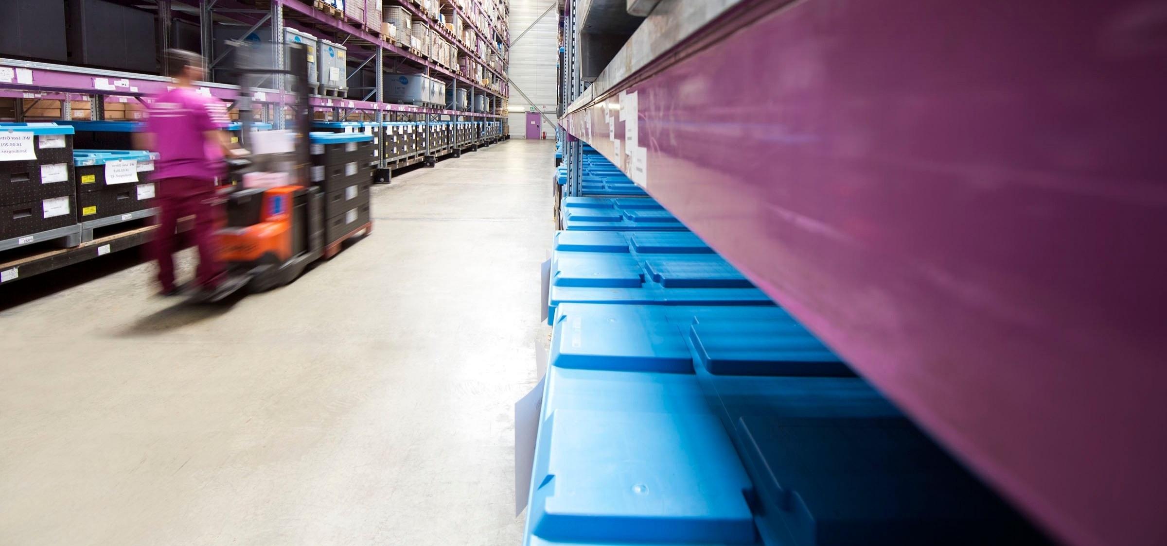 Lila Operating Warenflüsse Informationsflüsse transportmanagement