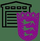 Lila Baden-Württemberg Warehouse Icon